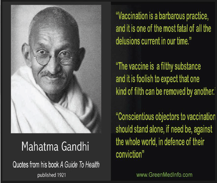Gandhi Anti-Vaccination Graphic