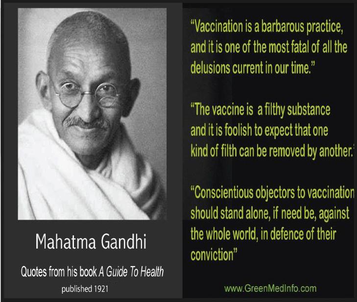 Gandhi Anti-Vaccination Graphic